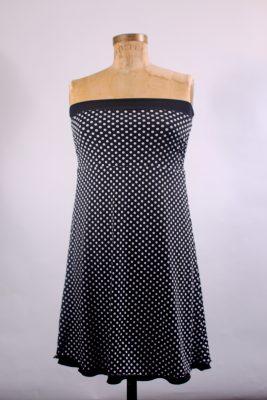 Robe/Jupe 4 en 1 - en robe, côté pois