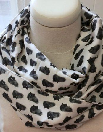 foulard chats noirs