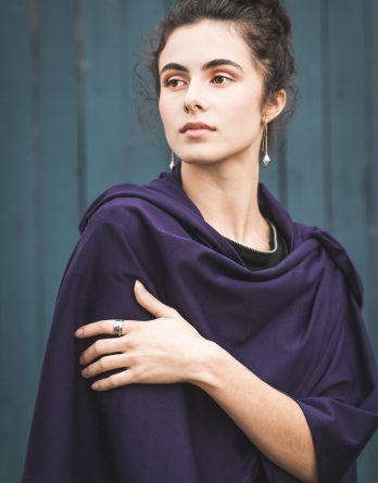 Châle Hannah violet
