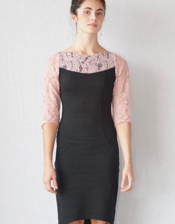 Robe Bianca, en noir et rose
