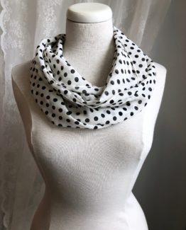 foulard entourloupe - pois noirs