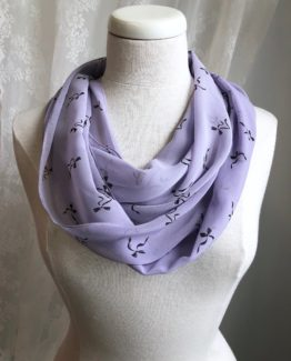 foulard entourloupe - boucles lilas