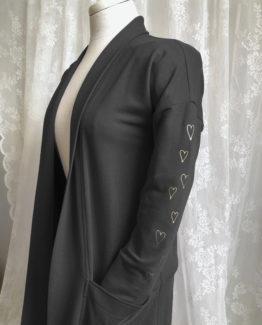 veste Maud coeurs noire - 1