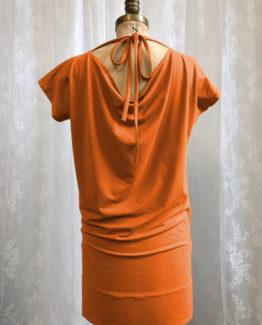 Tunique Hop! orange, dos